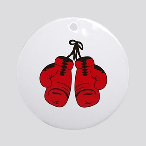 SMALL BOXING GLOVES Ornament (Round)