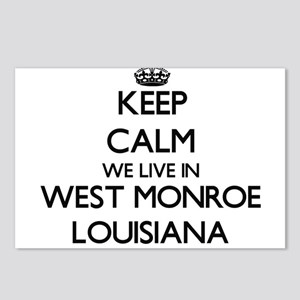 Keep calm we live in West Postcards (Package of 8)