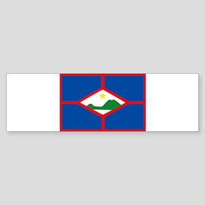 Sint Eustatius Flag Bumper Sticker
