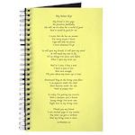 Yoga Poem Yellow Journal
