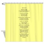 Yoga Poem Yellow Shower Curtain
