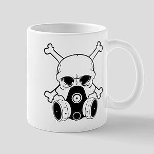 Chemical Warfare Skull Black Mugs