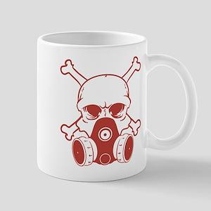 Chemical Warfare Skull Red Mugs