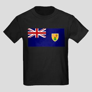 Turks and Caicos Islands Kids Dark T-Shirt