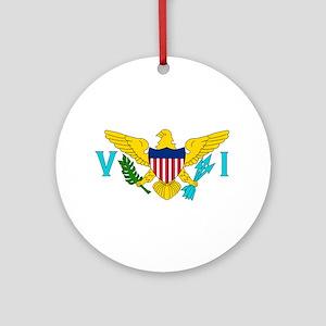 U.S. Virgin Islands Flag Ornament (Round)