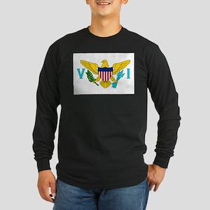 U.S. Virgin Islands Flag Long Sleeve Dark T-Shirt