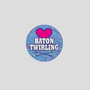 I Heart Baton Twirling Mini Button