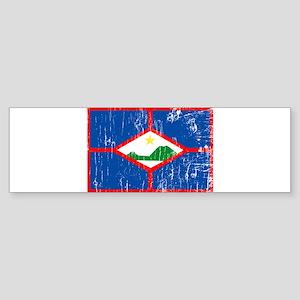 Vintage St. Eustatius Bumper Sticker