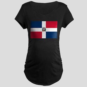 Dominican Republic Flag Maternity Dark T-Shirt