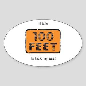 100 Feet Oval Sticker