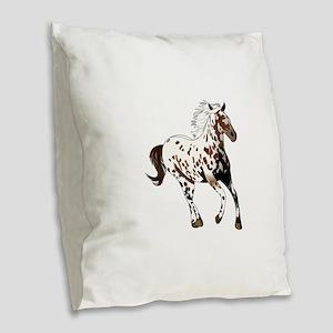 APPALOOSA HORSE Burlap Throw Pillow