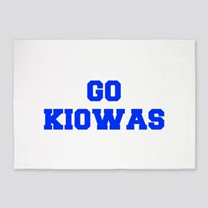 Kiowas-Fre blue 5'x7'Area Rug