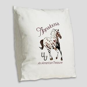 APPALOOSA AMERICAN TREASURE Burlap Throw Pillow