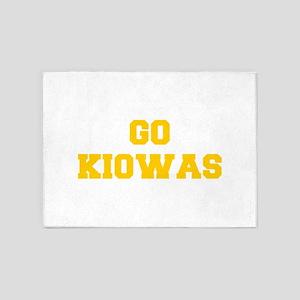 Kiowas-Fre yellow gold 5'x7'Area Rug