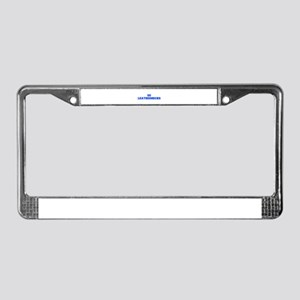Leathernecks-Fre blue License Plate Frame