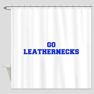 Leathernecks-Fre blue Shower Curtain