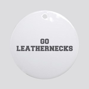 LEATHERNECKS-Fre gray Ornament (Round)
