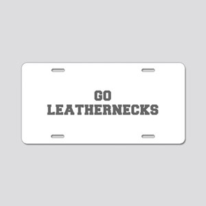 LEATHERNECKS-Fre gray Aluminum License Plate