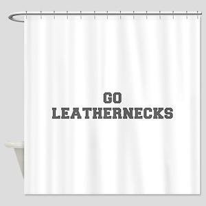 LEATHERNECKS-Fre gray Shower Curtain
