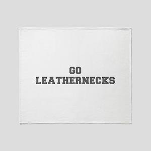 LEATHERNECKS-Fre gray Throw Blanket