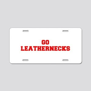 LEATHERNECKS-Fre red Aluminum License Plate