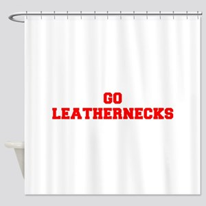 LEATHERNECKS-Fre red Shower Curtain
