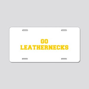 Leathernecks-Fre yellow gold Aluminum License Plat
