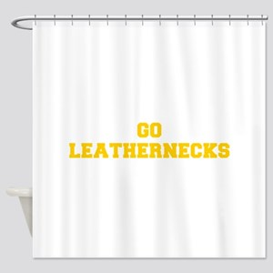 Leathernecks-Fre yellow gold Shower Curtain