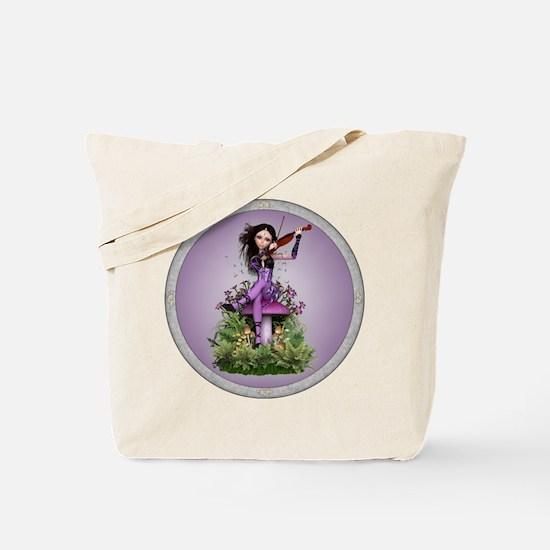 Amethyst Fairy and Violin Tote Bag