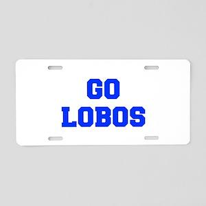 Lobos-Fre blue Aluminum License Plate