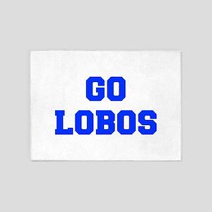 Lobos-Fre blue 5'x7'Area Rug