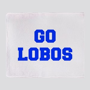 Lobos-Fre blue Throw Blanket