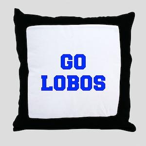 Lobos-Fre blue Throw Pillow