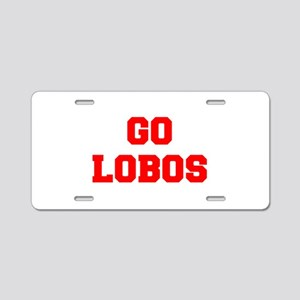 LOBOS-Fre red Aluminum License Plate