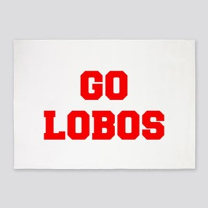 LOBOS-Fre red 5'x7'Area Rug