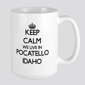 Keep calm we live in Pocatello Idaho Mugs