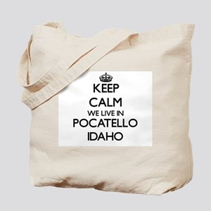 Keep calm we live in Pocatello Idaho Tote Bag