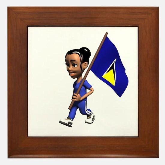 Saint Lucia Girl Framed Tile