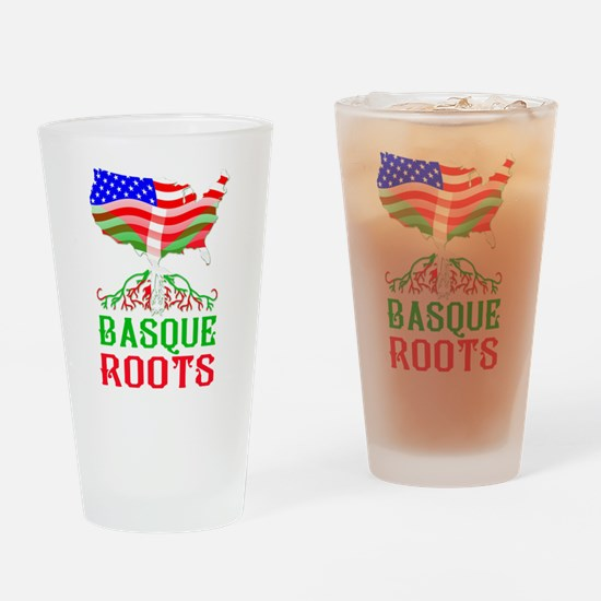 Basque American Roots Drinking Glass