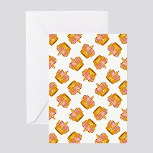 PINK & GOLD CROWNS Greeting Card
