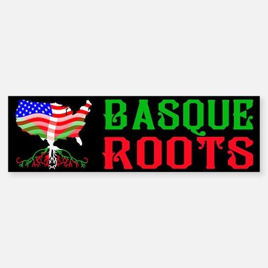 Basque American Roots Bumper Bumper Bumper Sticker
