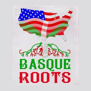 Basque American Roots Throw Blanket