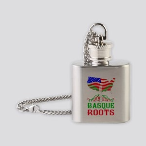 Basque American Roots Flask Necklace