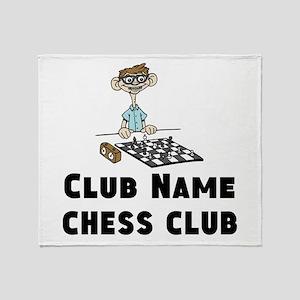 Chess Club Throw Blanket