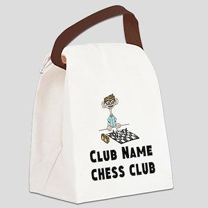 Chess Club Canvas Lunch Bag