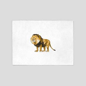 MALE LION 5'x7'Area Rug