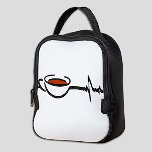 Coffee Heartbeat Neoprene Lunch Bag