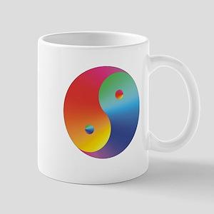 Yin Yang Rainbow Mug