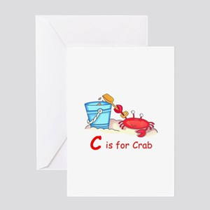 CRAB ON BEACH Greeting Cards