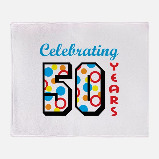 CELEBRATING FIFTY Throw Blanket